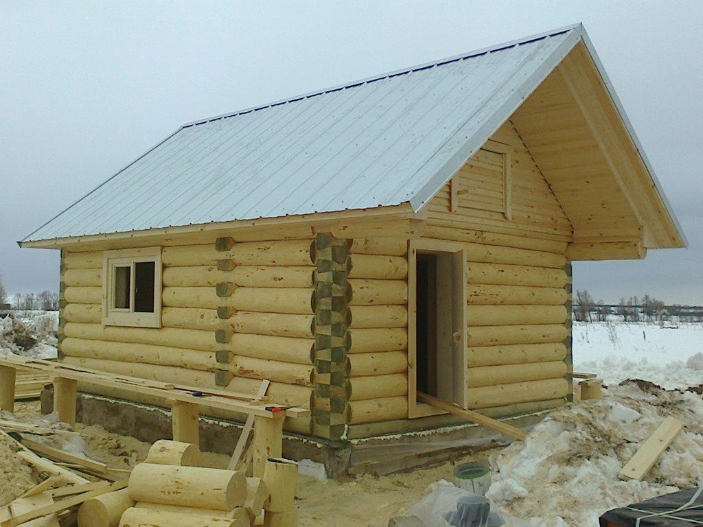 деревянная баня 4.5х5.5