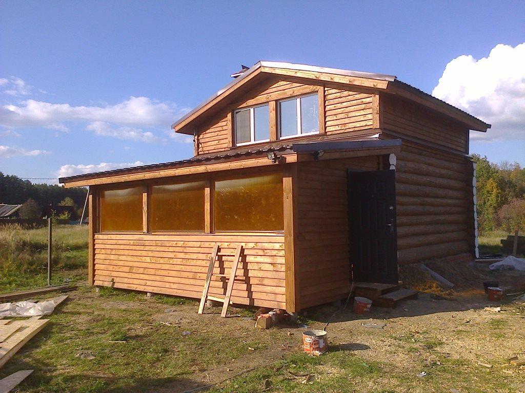 деревянная баня 6х6