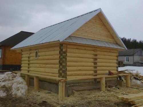 деревянная баня 4.5х5.5 (5)