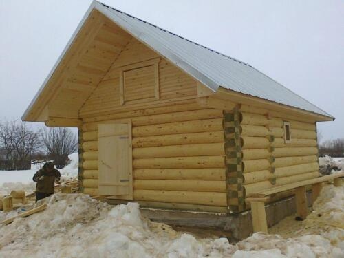 деревянная баня 4.5х5.5 (6)