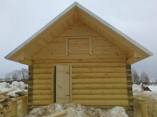 деревянная баня 4.5х5.5 (7)