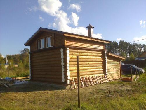 деревянная баня 6х6 (2)
