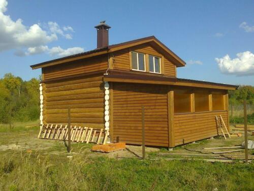 деревянная баня 6х6 (3)