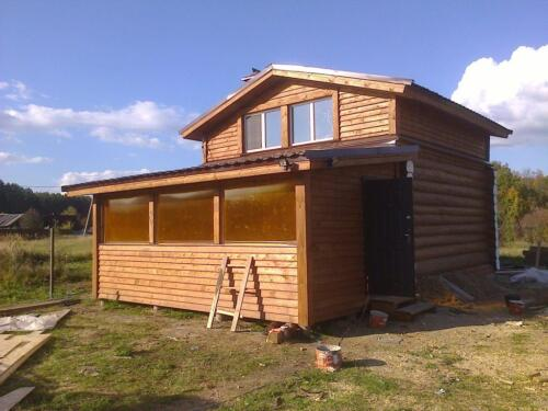 деревянная баня 6х6 (4)