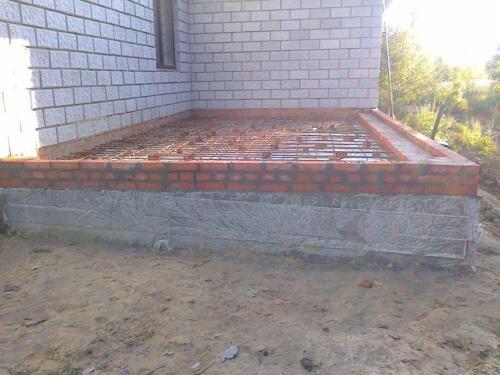 плиточный фундамент 1
